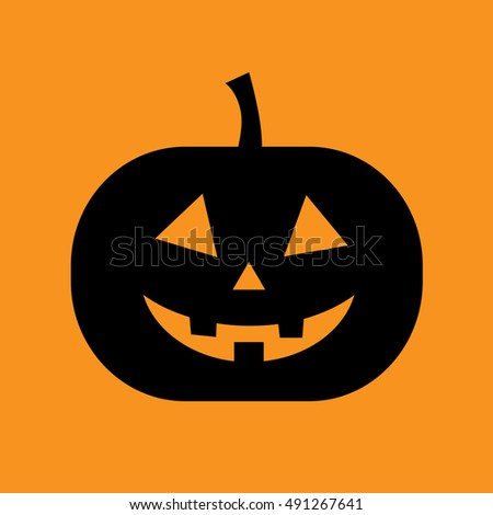 Pumpkin halloween vector isolated