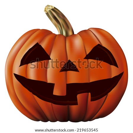 pumpkin icon - stock vector