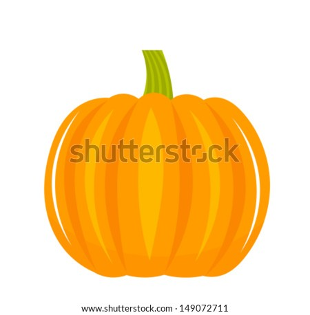 Pumpkin isolated on white background - vector illustration - stock vector