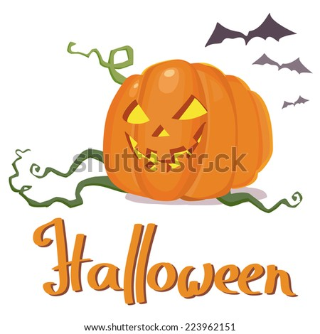 pumpkin jack halloween vector illustration - stock vector