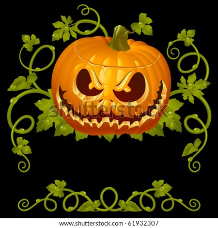 Pumpkin Jack vintage pattern - stock vector