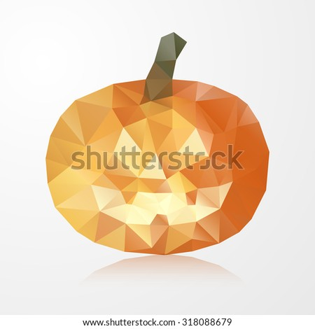 Pumpkin of triangles . Happy Halloween - stock vector