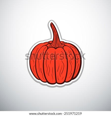 pumpkin outline vector illustration - stock vector