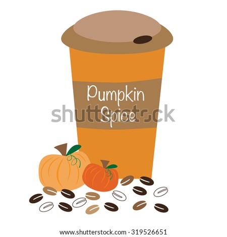 Pumpkin Spice Coffee - stock vector