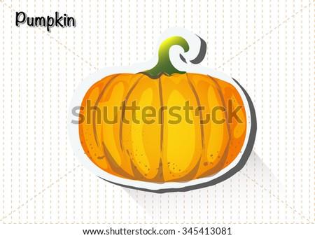 Pumpkin. Vector - stock vector