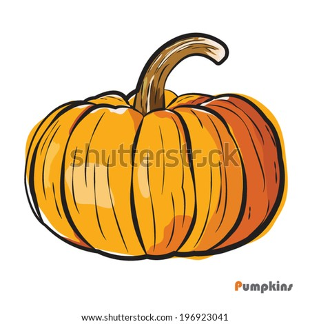 Pumpkin, vector Illustration - stock vector