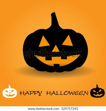 pumpkins for Halloween - stock vector