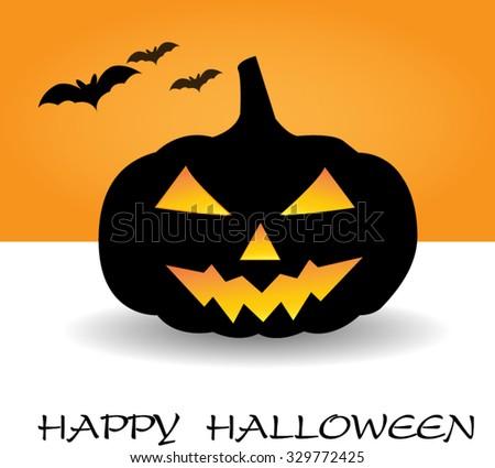 pumpkins for Halloween -vector - stock vector
