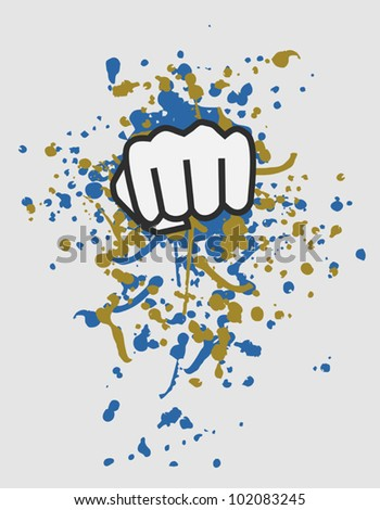 Punch art - stock vector