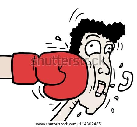 Punch sport man - stock vector
