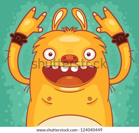 Punk Rock Monster - stock vector