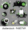 Punk set of design elements. To see similar design elements, please visit my gallery - stock vector