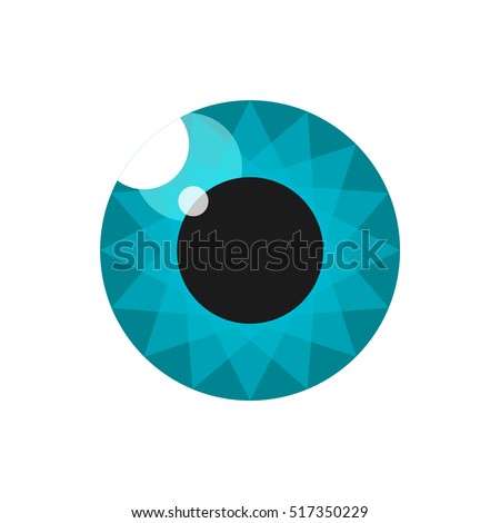 Pupil. Eye. Image for the logo. Cyan