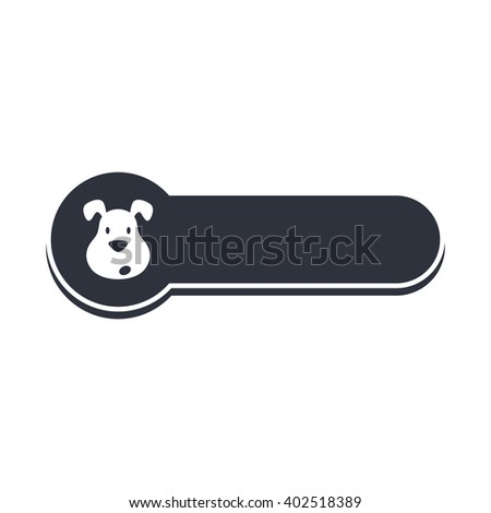 puppy dog banner template vector art illustration - stock vector