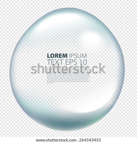 Pure clear water drops realistic isolated vector illustration art - stock vector