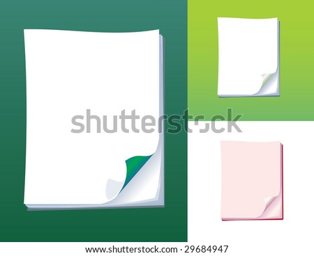 Pure leaf of a paper for a writing of the announcement. A vector