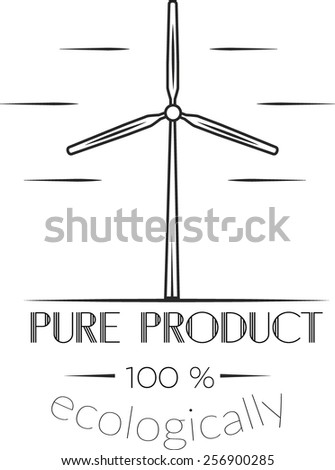 pure product logo - stock vector