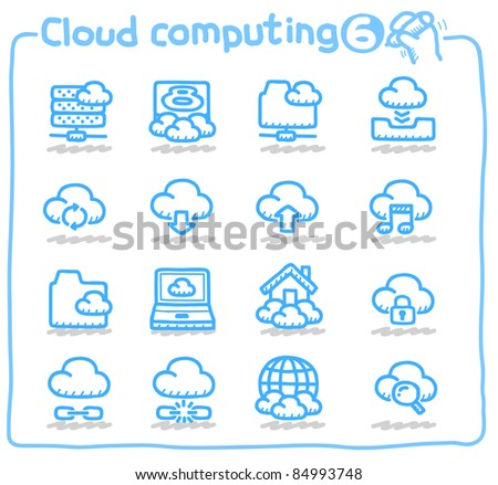 Pure series | cloud computing,communication,internet,network icon set - stock vector