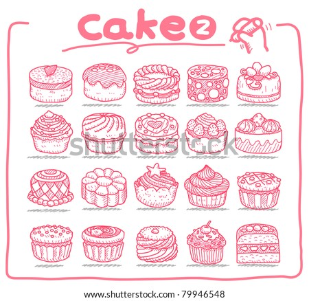Pure series | Hand drawn cake icons