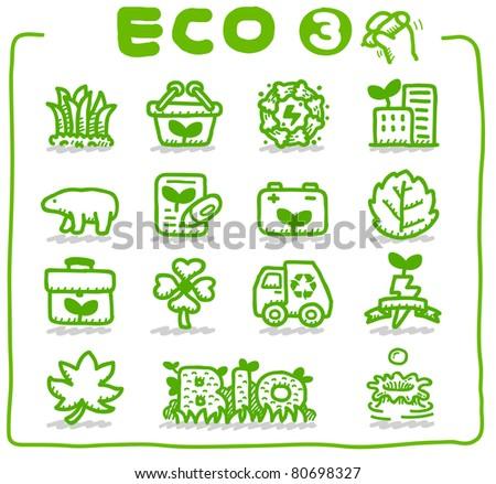 Pure series | Hand drawn Eco Icon - stock vector