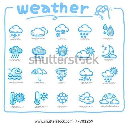Pure series | Hand drawn weather icons