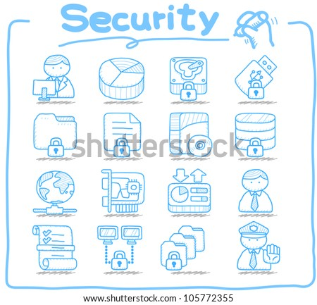 Pure Series | Hardware ,Business,Internet icon set - stock vector