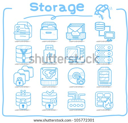 Pure Series | Storage ,Business,Internet icon set - stock vector