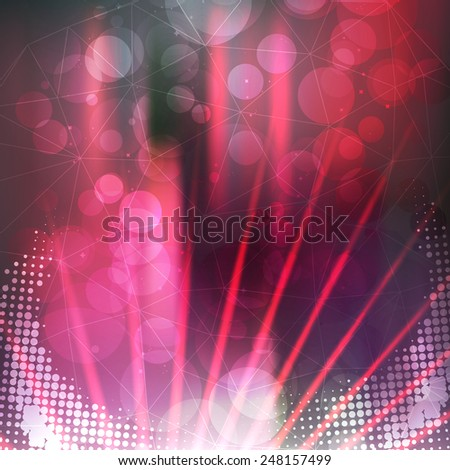 Purple Abstract Background with Lasers for Design - Vector Illustration - stock vector