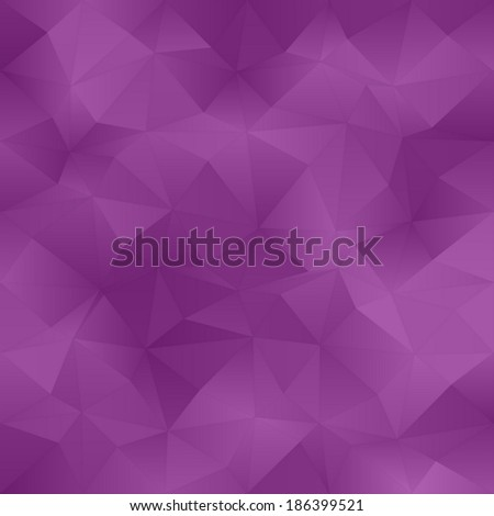 Purple abstract irregular triangle pattern background - vector version  - stock vector