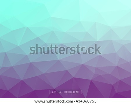 Purple and blue polygon pattern. hexagon background. triangle background, Design element - stock vector