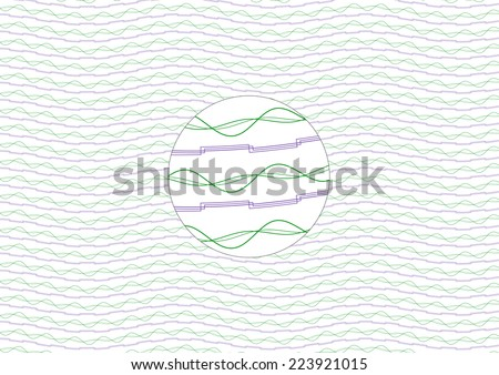 Purple and Green Guilloche Background (allows for seamless pattern) - stock vector