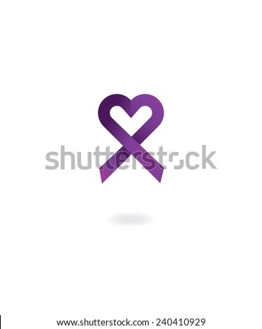 Purple awareness ribbon - stock vector