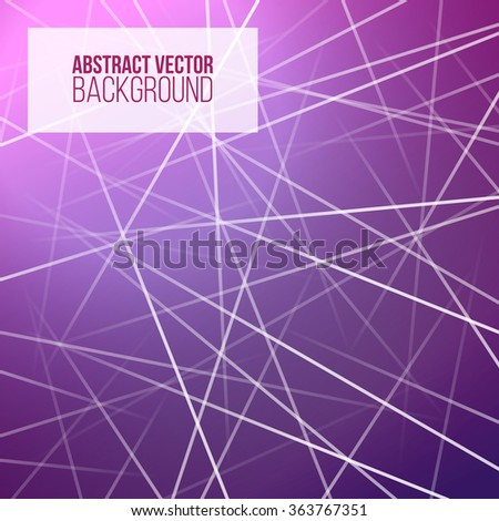 Purple Background With Light Abstract Graphic LinesVector Technology Pattern Template Text Modern