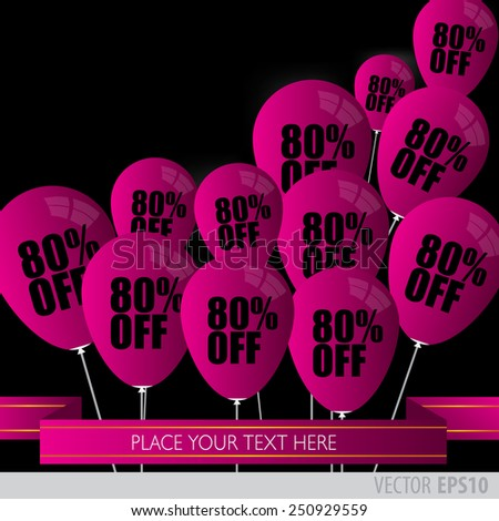 Purple balloons With Sale Discounts 80 percent.