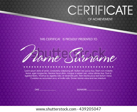 purple certificate template