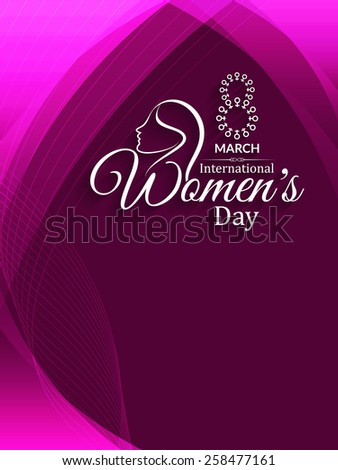 Purple color shining background design for Women's day. Vector illustration - stock vector