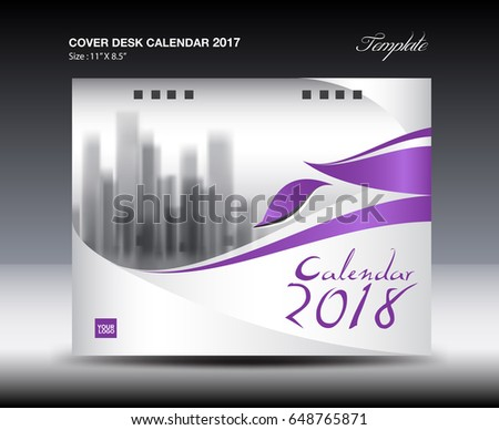 Desk Calendar Template  Year November Stock Vector