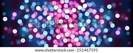 Purple festive lights. Vector illustration.  - stock vector
