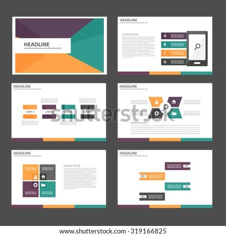 purple green orange Multipurpose Infographic elements and icon presentation template flat design set for advertising marketing brochure flyer leaflet - stock vector