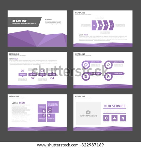 Purple polygon Multipurpose Infographic elements and icon presentation template flat design set for advertising marketing brochure flyer leaflet - stock vector