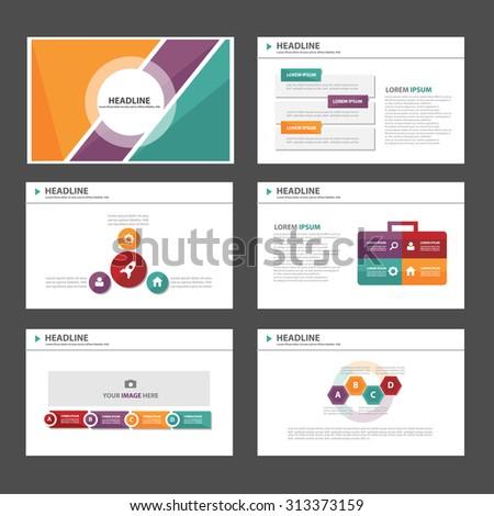 Purple purple green Multipurpose Infographic elements and icon presentation flat design set for advertising marketing brochure flyer leaflet - stock vector
