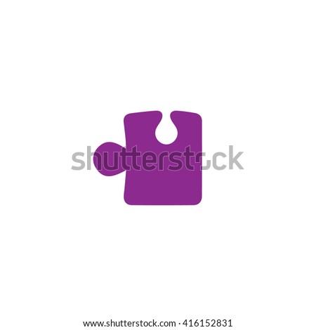 Purple puzzle icon vector illustration. - stock vector