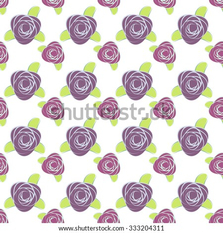 Purple Rose Seamless pattern vector - stock vector