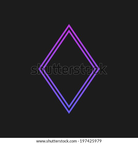 Purple rustrakehner color diamonds on a black screen - stock vector