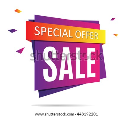 Purple Sale banner on a abstract gray background. Sale tag. Sale image. Special offer poster. Vector illustration, eps 10