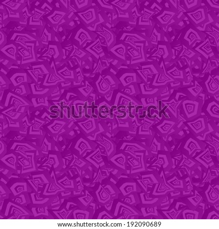 Purple seamless chaotic pattern background - vector version - stock vector