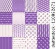Purple Seamless Geometric Pattern Set - stock vector