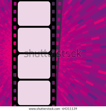 Purple shine Film background - stock vector