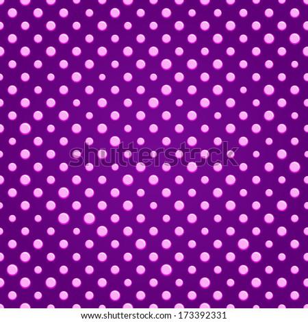 Purple Shiny Polka dot Seamless Pattern Background - stock vector
