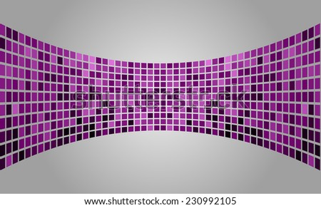 purple silver Vector abstract design. pixels mosaic background computer graphic website and internet. - stock vector